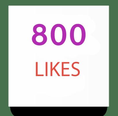 800 instagram likes